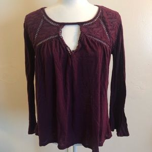 Lucky Brand Purple Textured Top